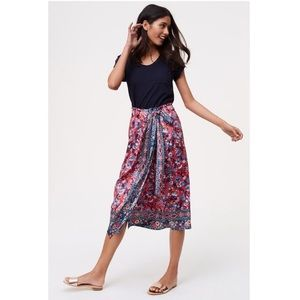 Loft Rose Garden Wrap Skirt